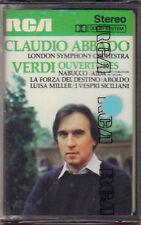 """CLAUDIO ABBADO """" VERDI OUVERTURES """" MUSICASSETTA SIGILLATA RCA"""