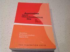 AUSTRALIAN ANTI DISCRIMINATION LAW BOOK. AS NEW BEST SELLER BARGAIN
