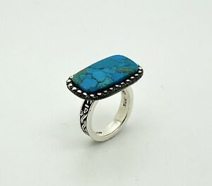 Unique Boho Natural Turquoise Gemstone Silver Ring