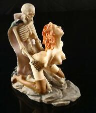 Women Statue Ghost Sex Skeleton Skull Halloween Resin Decor Sculpture