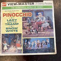 View-Master: Walt Disney's PINOCCHIO, LADY AND THE TRAMP & SNOW WHITE (#B315)
