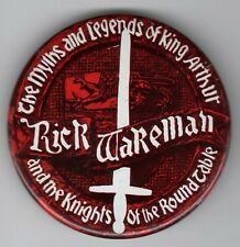 1970s RICK WAKEMAN KING ARTHUR Pinback CONCERT Hippie PSYCHEDELIC ROCK Button