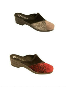 Ladies Womans Wedge Mule / Slip Slippers House shoes Sizes New Soft
