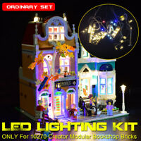 USB LED Light Lighting Kit For LEGO 10270 Creator Modular Bookshop Buildin
