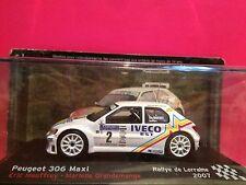 SUPERBE PEUGEOT 306 MAXI RALLYE DE LORRAINE 2007 NEUF BOITE SOUS BLISTER 1/43