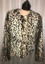 Express Womens Leopard Faux Fur Jacket XS