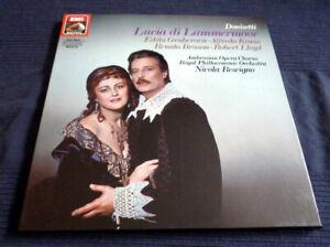 3xLP Vinyl Donizetti Lucia Di Lammermoor Gruberova Kraus Nicola Rescigno EMI