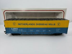 "Vintage Bachmann HO Scale 8.25"" Netherlands Overseas Mills  Freight Box Car"