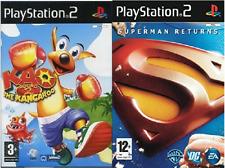 2x Playstation 2 Spiele Superman Returns & Kao The Kangaroo-Round 2