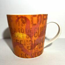 STARBUCKS 2006 GUATEMALA MUG Large 16 oz Ceramic Coffee Cup Orange Abstract