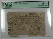 1775 20 Pounds South Carolina Colonial Currency SC-100 PCGS F-15 Apparent (B)