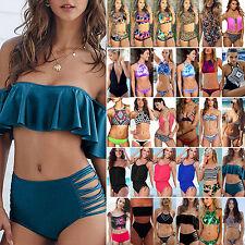 Womens Summer Swimwear Bikini Set Bandage Push Up Bra Tankini Swimsuit Beachwear
