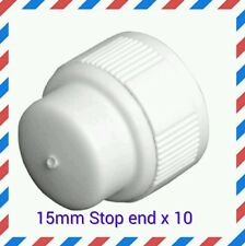 10 pack 15mm Stop End Plumbing Pushfit / Hep20 speedfit compatible  fittings