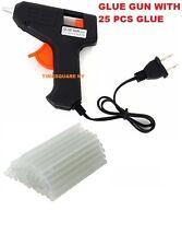 Electric Heating Hot Melt Glue Gun with 25 Mini Clear Glue Sticks for Arts Craft