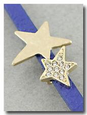Gold and Sparkle Stars Bracelet on Blue Band