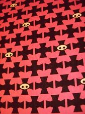 GOTH CROSS SYMBOLS BIKER COTTON FABRIC FQ OOP
