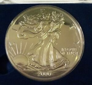 2000 ( 1/2 Troy pound )  .999 Fine Silver AMERICAN  EAGLE Design Proof Round :
