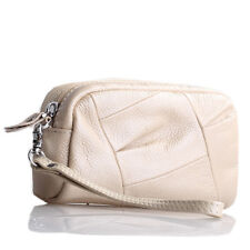 Beige Italian Leather  Wristlet / Wallet
