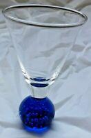 Harlequin Control Bubble Base Liqueur Cordial  Glasses Vintage