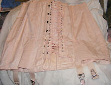Vintage Corset Bustier Girdle Pink Pen-Flex Heavy Fabric Size 36