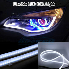 2 x60CM Flexible Audi Style Neon White Tube DRL LIGHT For All Car.(Universal)