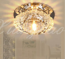 Small Modern Crystal Pendant Lamp Ceiling Light Fixture Lighting LED Chandelier
