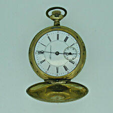 Antique Early 1900s Hampden Watch Co. 6s Jeweled Gold Filled Pocket Watch Parts