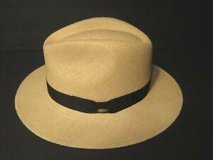 Scala Genuine Panama straw safari Hat Handwoven in Ecuador LARGE