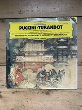 Puccini Turandot Von Karajan Deutsche Grammophon LP 1982 Reissue 410-645-1