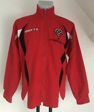 SHEFFIELD UNITED RED TRAVEL WARM UP JACKET BY MACRON SIZE UK SMALL BRAND NEW