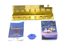 Chanukah Jewish Hanukah Holidays Gift Present Gold Menorah Chanukia + 44 Candles