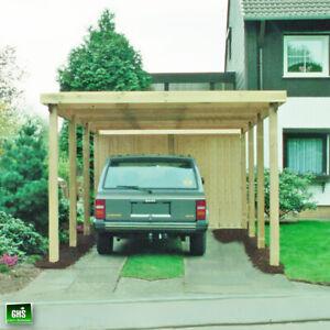 Carport 4x6 m, Holz-Bausatz 11/11 cm Stützen, Schneelast bis 200 Kg/qm möglich