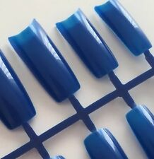 20 French Nail Tips Blau