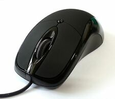 HD-M500s USB Silent Quiet Anti-noise No Click Sound Blue-tracking Mouse (Black)