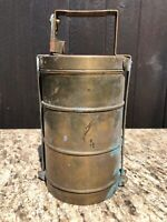 KAKAI TIFFIN BRASS LUNCH CARRIER BOMBAY2 COLLECTABLE KAISER CA HISTORY