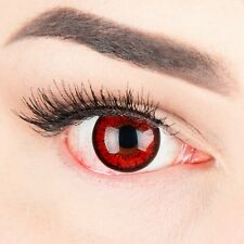 Coloured Contact Lenses Red Black Parasite Contacts Color Carnival Halloween