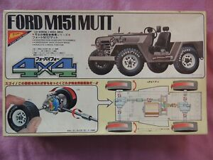 Nichimo Ford M151 Mutt 1:20 working 4-wheel drive unassembled plastic model jeep