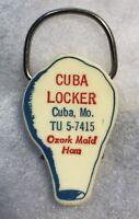 Cuba Missouri MO Keychain Ozark Maid Ham Vintage Pork Agriculture