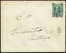 3160 CHILE OVPD PS STATIONERY ENVELOPE 1916 CHINCOLCO - SANTIAGO