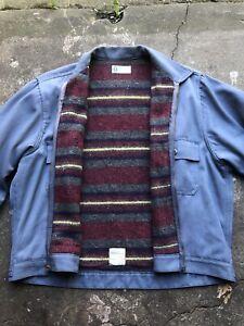 Vintage 40's 50's Troy Blanket Lined Work Jacket Sz XL