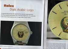 SP95 Clipping-Ritaglio 2010 Rolex Dials Arabic Logo