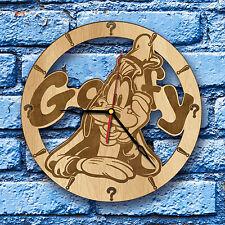Goofy Christmas Animated Mickey Donald Ornament Disney Vintage Wood Clock Decor