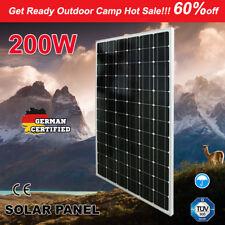 200W 12V MONO Solar Panel Kit RV Caravan Camping Power Battery Charging 4X4
