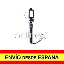Palo Selfie con Cable Brazo Extensible Universal Selfie Stick Azul a720