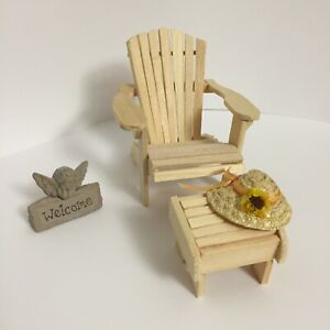 Dollhouse garden set adirondack chair