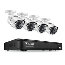 ZOSI 2MP Wire POE 4CH NVR Outdoor Security System Night View Bullet Camera