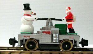 LIONEL 8-87203 SANTA AND SNOWMAN HAND CAR