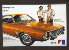 1973 AMERICAN MOTORS AMC JAVELIN CAR DEALER ADVERTISING POSTCARD COPY