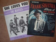 TWO 50s AND 60s WORDS & MUSIC BOOKS (BEATLES)(FRANK SINATRA)