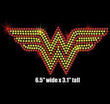 "6.5"" Wonder Woman iron on rhinestone transfer wonderwoman applique"